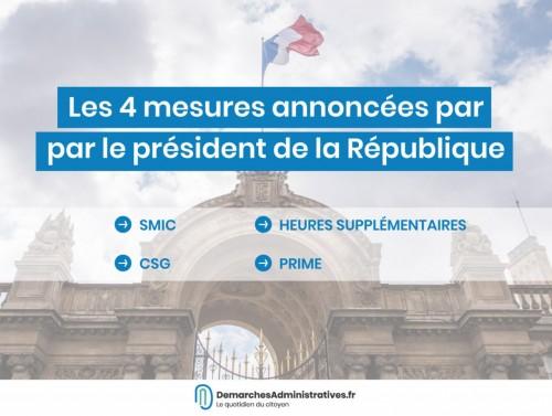 Mesures sociales annoncées par Macron et réactions politiques