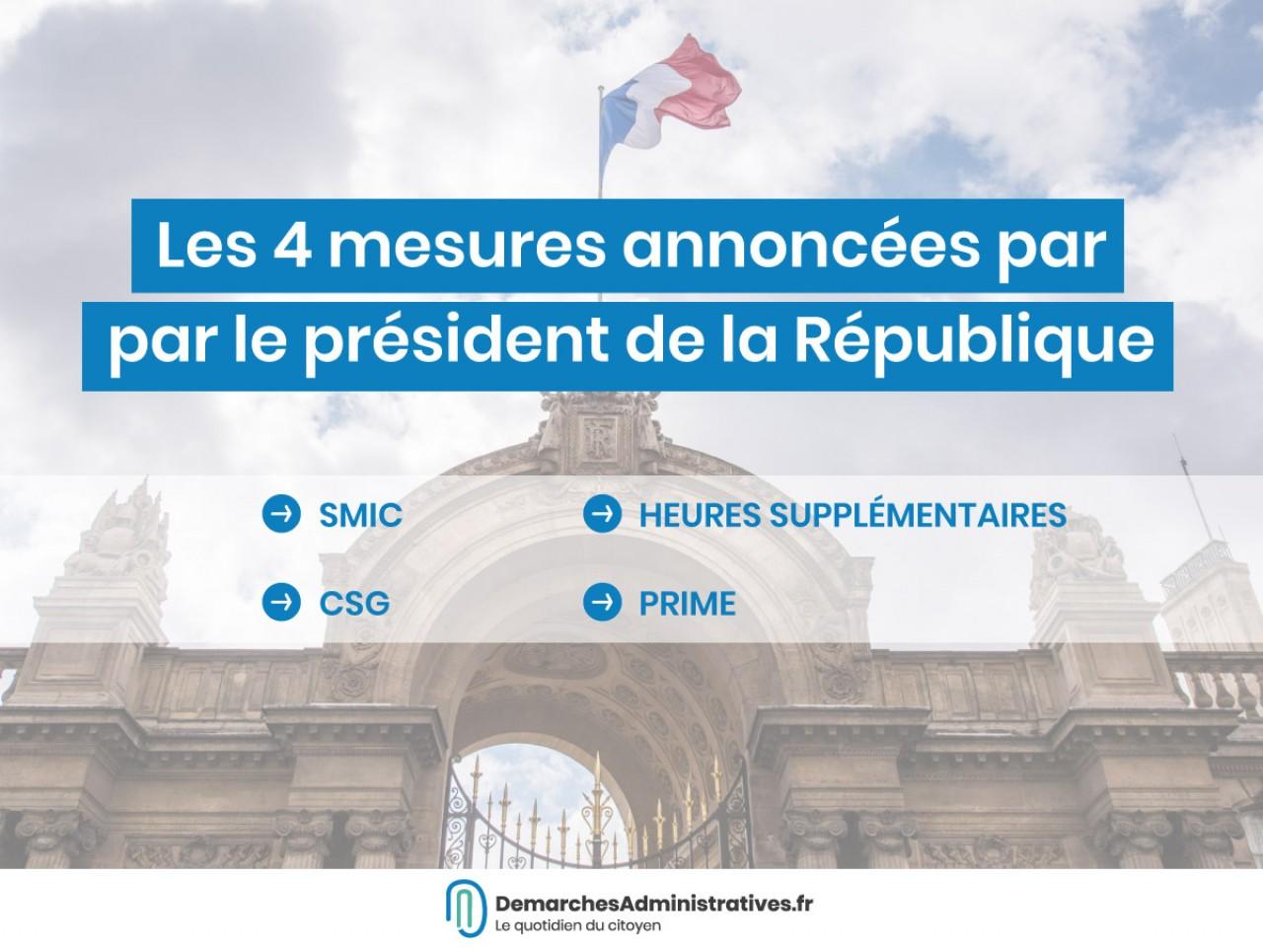 Les mesures sociales annoncées par Emmanuel Macron le 10 décembre
