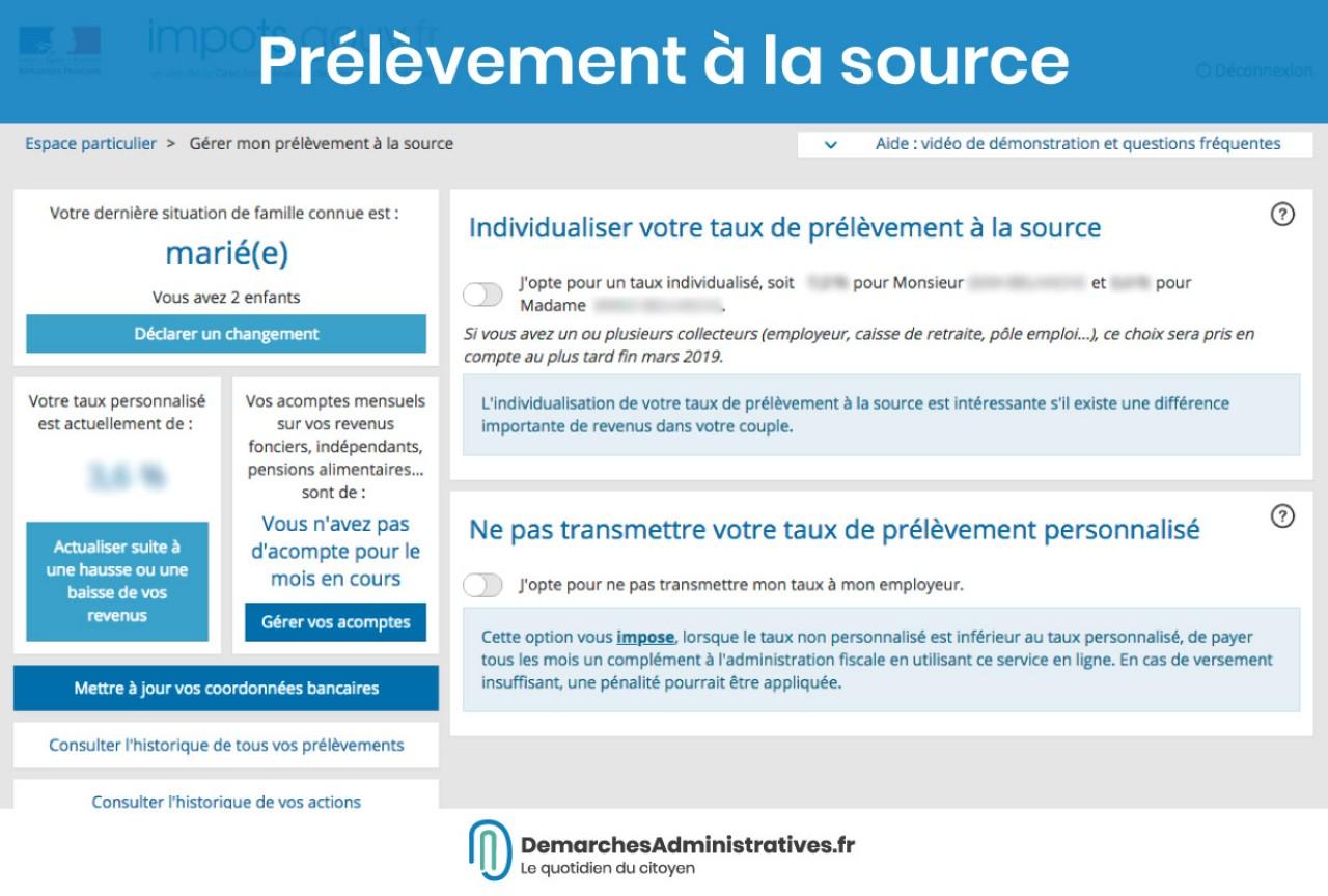 impots.gouv.fr espace particulier rubrique consulter mon compte