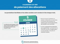 Calendrier CAF 2019 de paiement des allocations