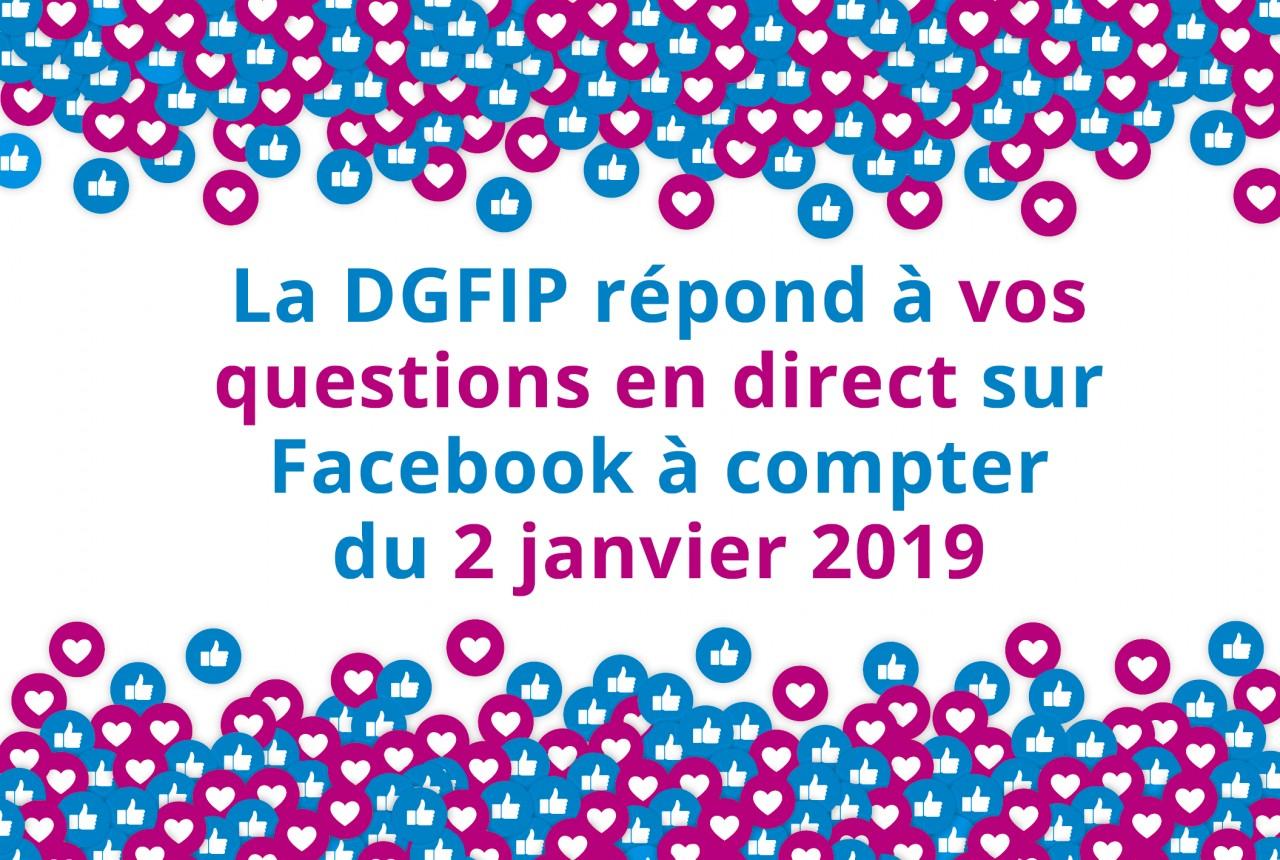 La DGFIP lance un Facebook Live sur le prélèvement à la source à compter du 2 janvier 2019