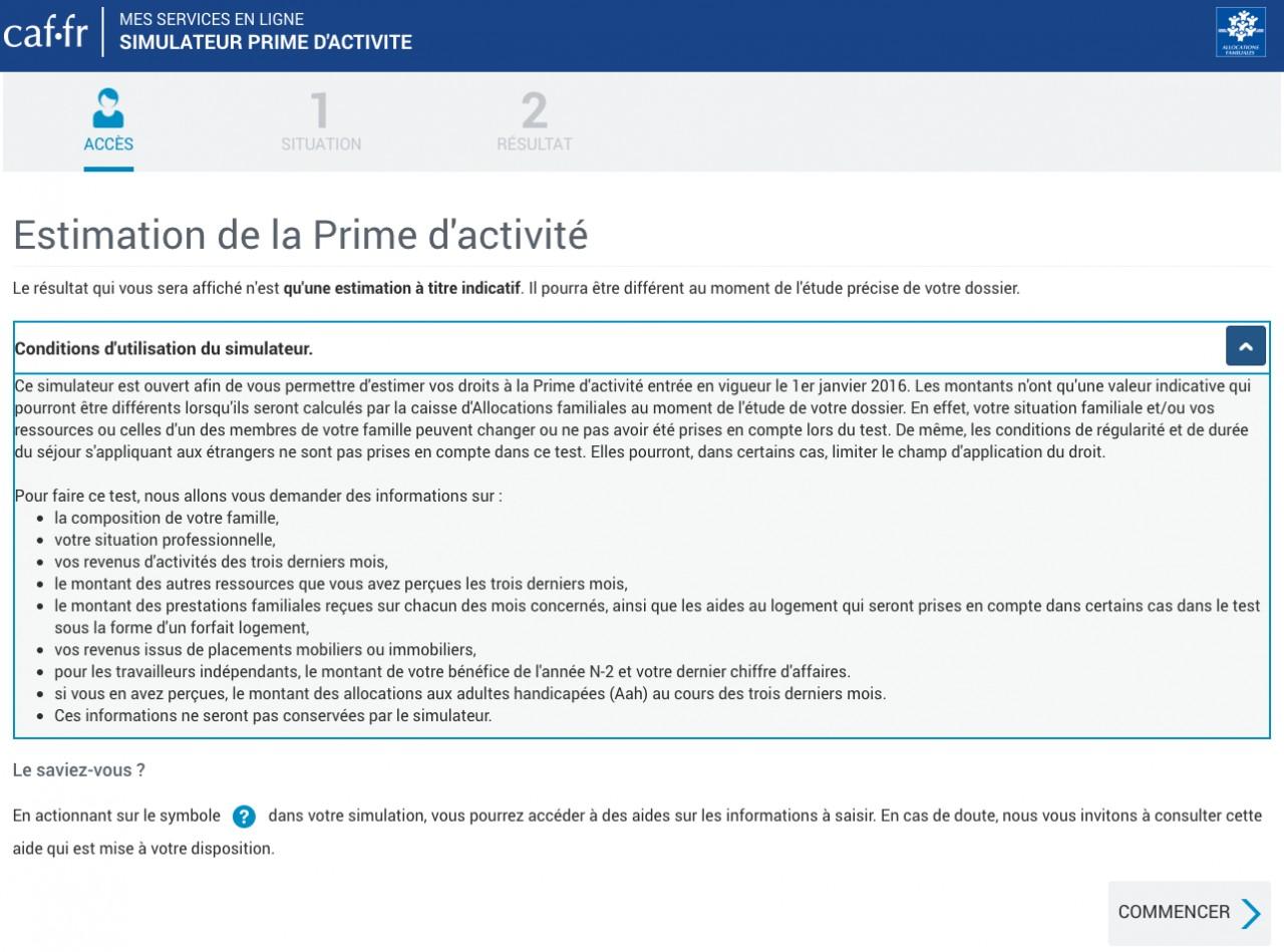 Hausse de la prime d'activité: un simulateur sur le site caf.fr