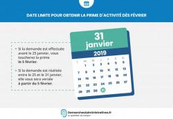 date limite pour demander la prime d activité 2019