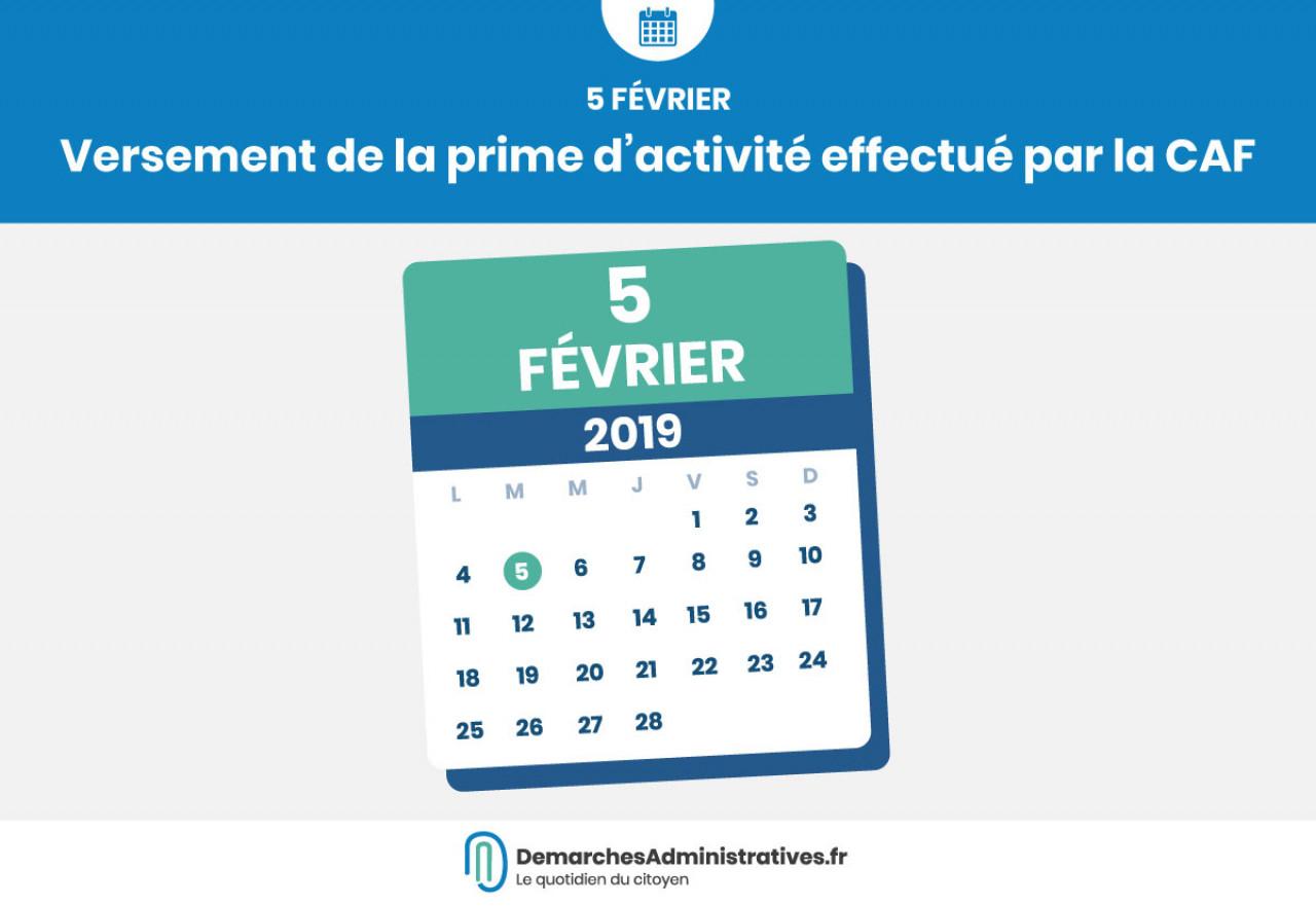 La prime d'activité est versée ce mardi 5 février 2019 par la CAF