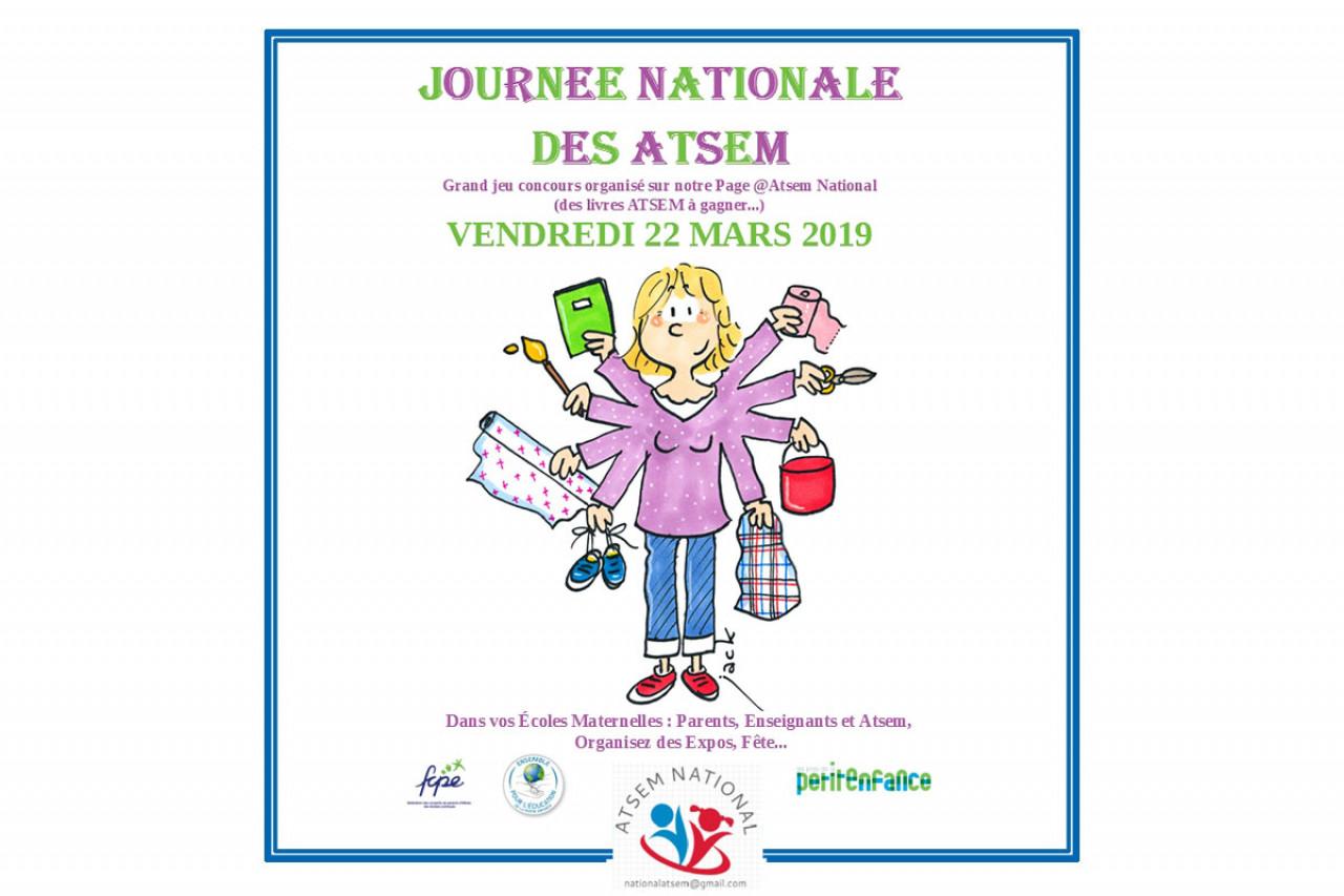 La journée nationale des ATSEM se déroule vendredi 22 mars