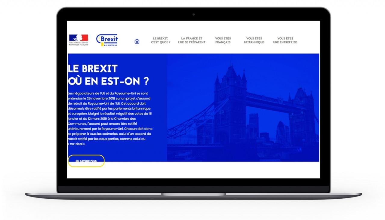 Brexit, un site web pour préparer les citoyens et les entreprises