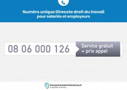 Renseignements pour salariés et employeurs : contacter le numéro unique de la DIRECCTE