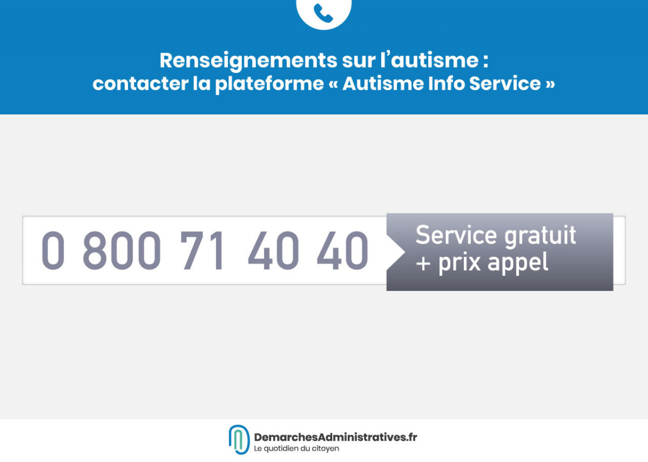 Renseignements sur l'autisme: contacter la plateforme «Autisme Info Service»