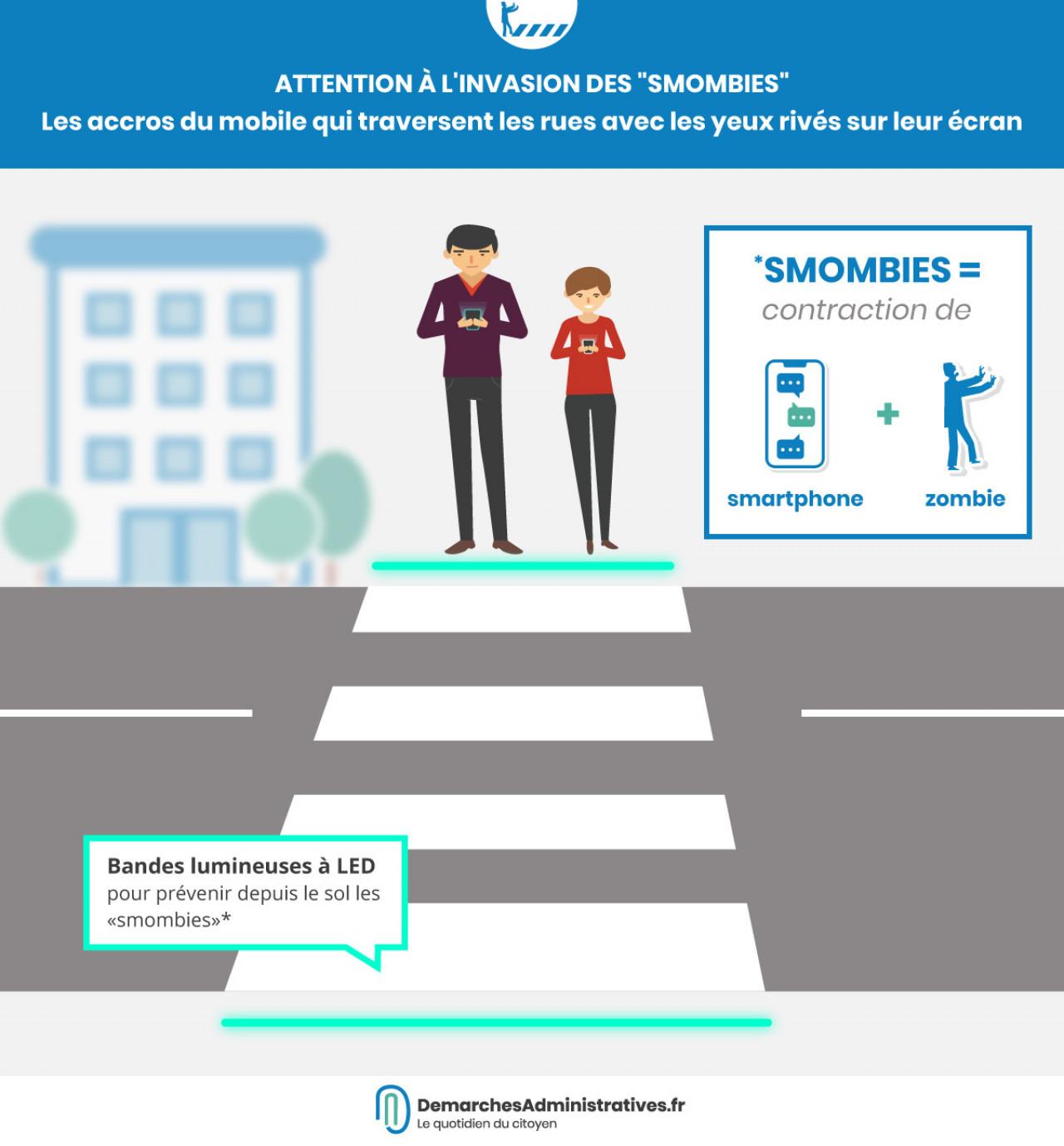 Sensibiliser les «smombies» aux accidents de la route