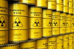 Carte des lieux de stockage des déchets nucléaires