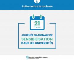 Journée de sensibilisation au racisme dans les universités instaurée le 21 mars
