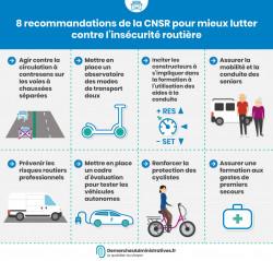 8 recommandations pour la sécurité routière du CNSR