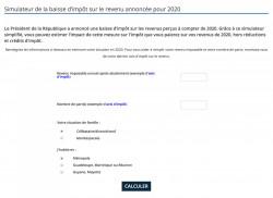 Simulateur pour calculer la baisse d'impôt sur le revenu prévue en 2020