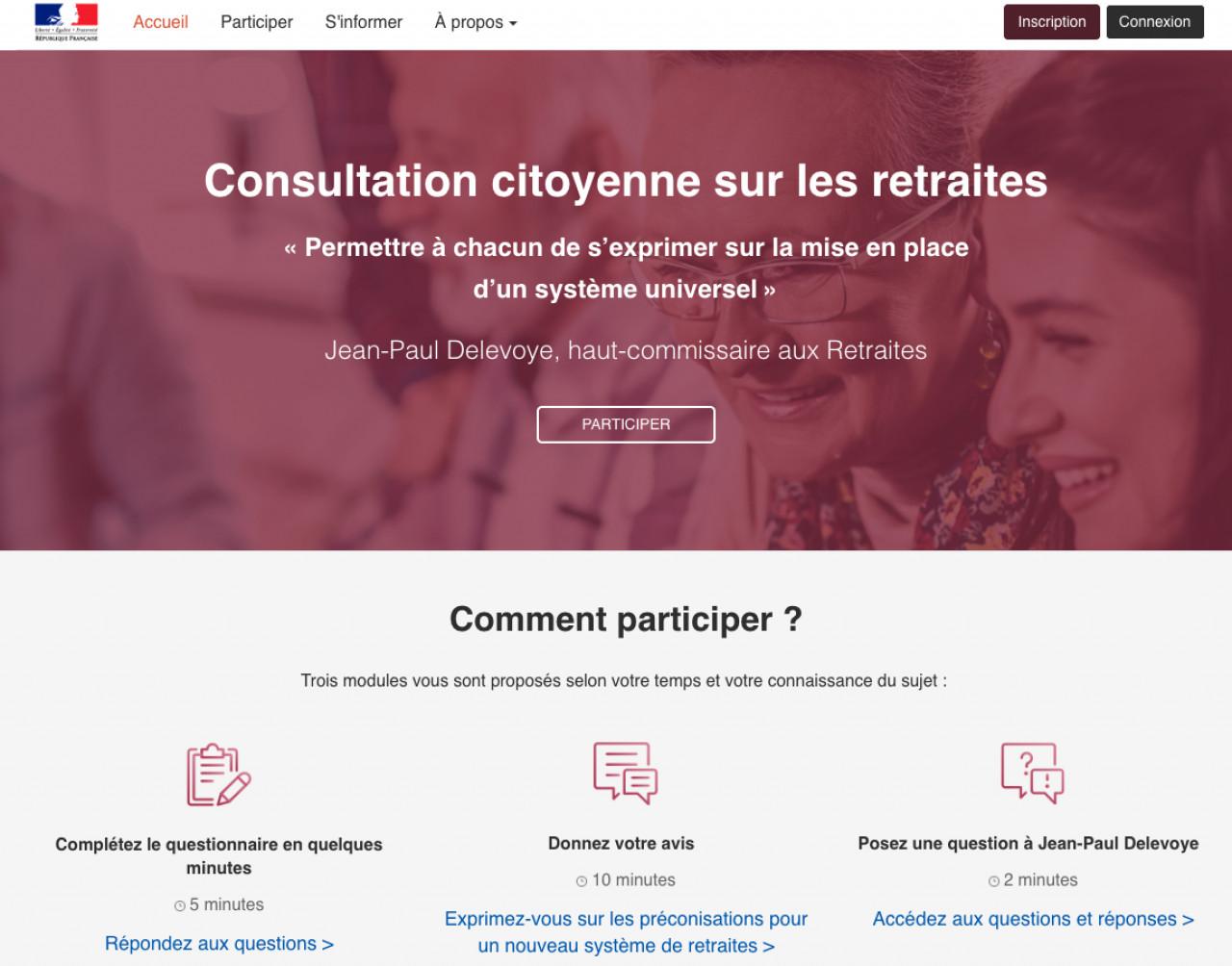 Réforme des retraites : Mise en place de la consultation citoyenne depuis le 3 octobre