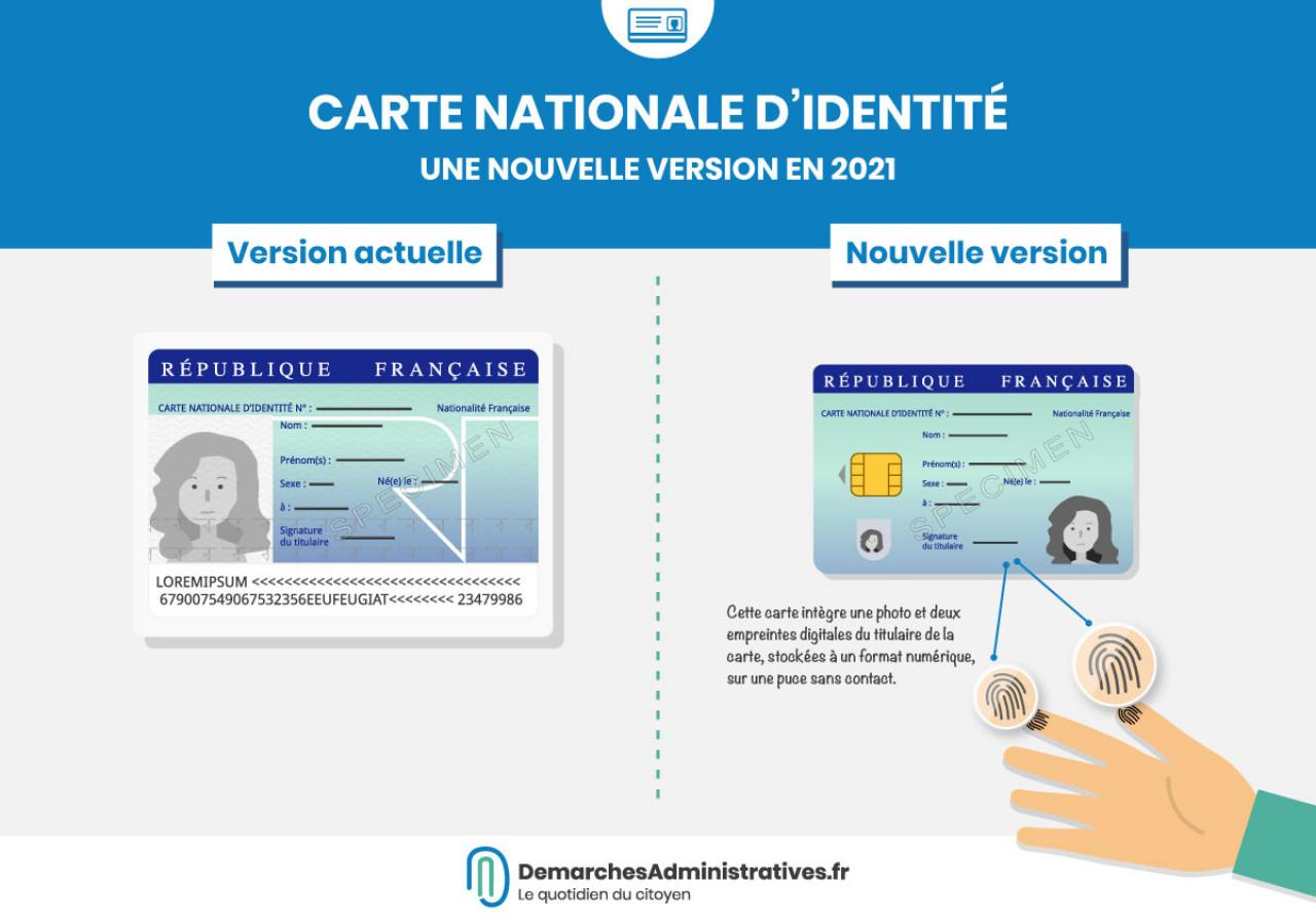 Une nouvelle carte nationale d'identité sera délivrée à partir d'août 2021