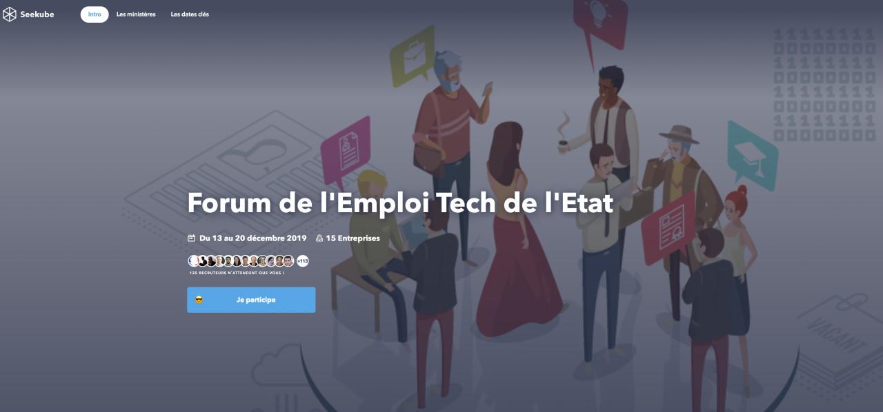 Forum de l'Emploi Tech de l'État2019: 350 postes à pourvoir dans le numérique