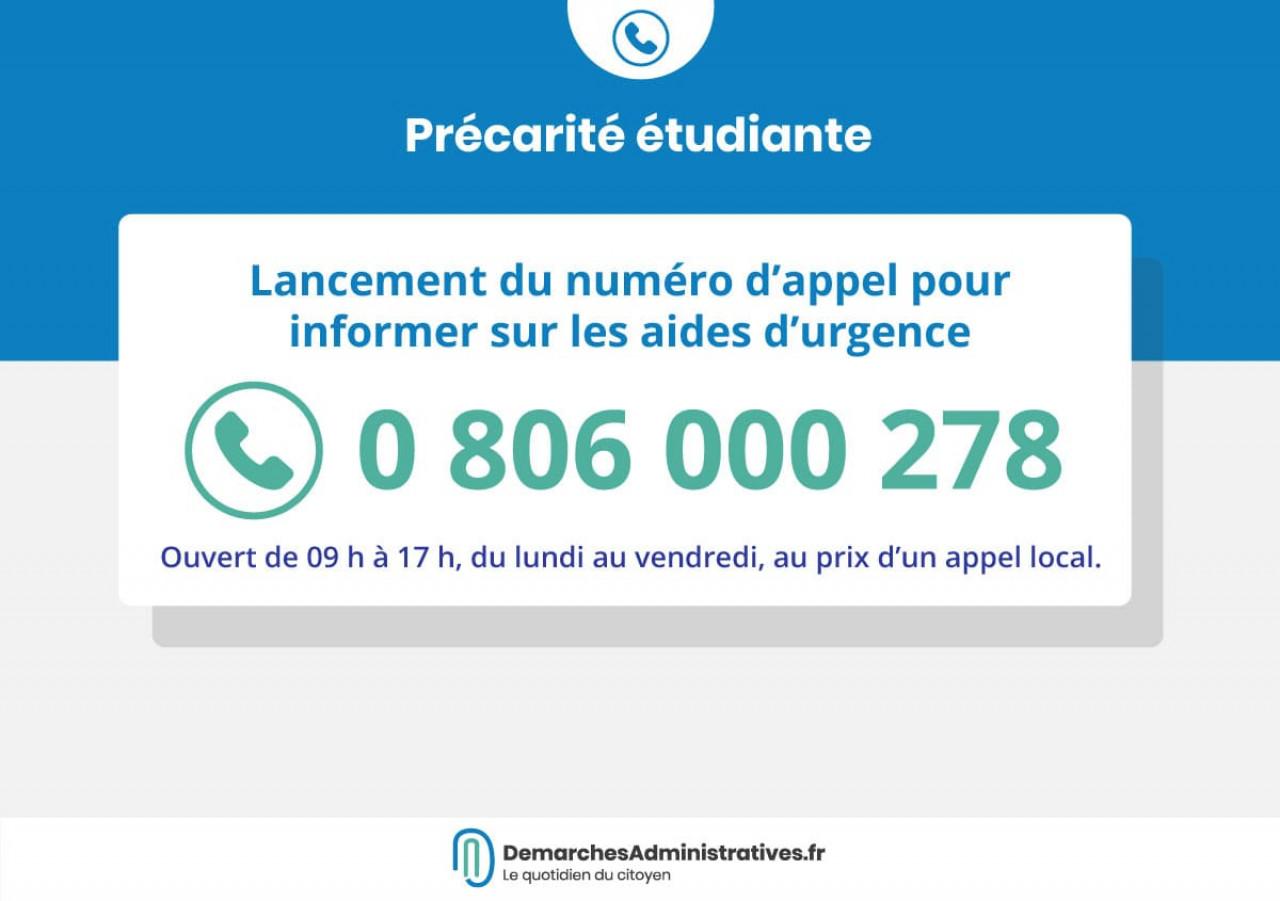 Le numéro d'appel pour les étudiants en difficulté financière est ouvert