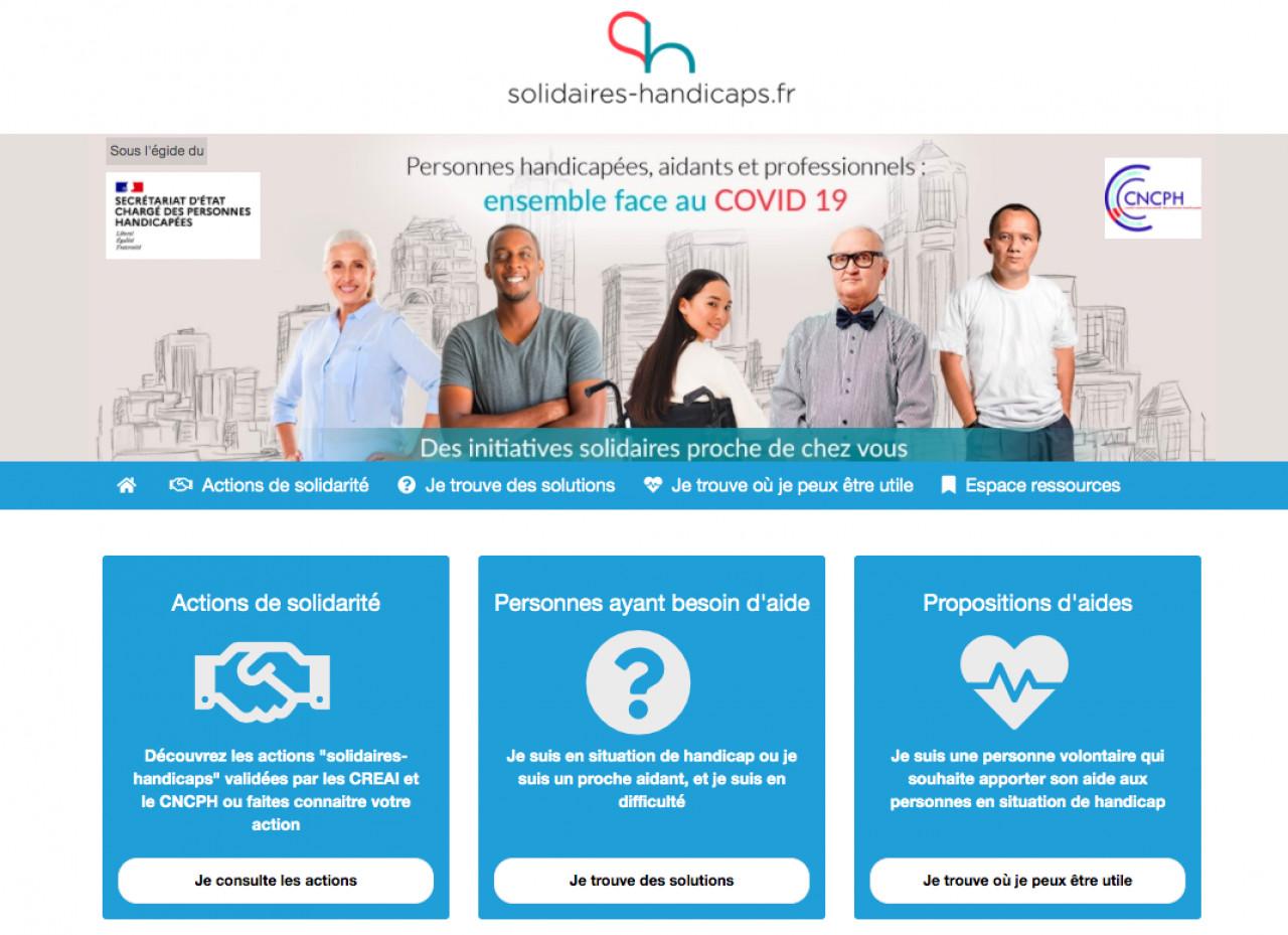 Solidaires-handicaps.fr : Une plateforme pour trouver de l'aide pendant le confinement