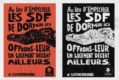 soyons humains la campagne de la fondation abb pierre contre les dispositifs anti sdf. Black Bedroom Furniture Sets. Home Design Ideas