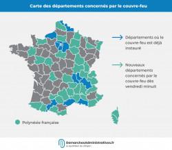 Covid-19 : le couvre-feu étendu à de nouveaux départements