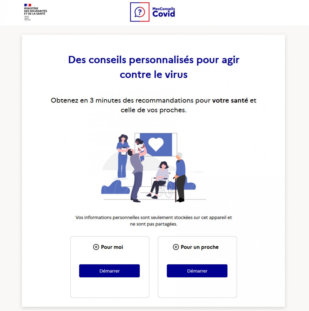 Mesconseilscovid : un site de prévention et de conseils personnalisés