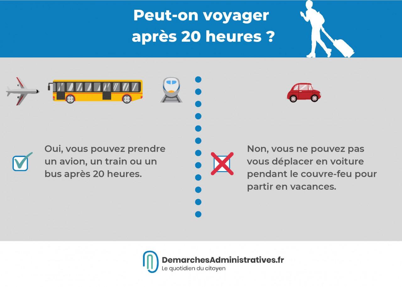 Couvre-feu : peut-on voyager après 20 heures?
