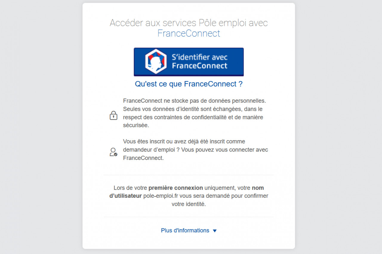 Pôle emploi est désormais accessible via FranceConnect