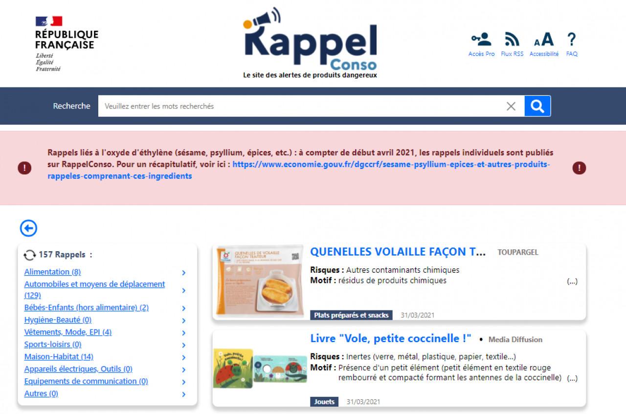 RappelConso : un site qui recense les produits dangereux