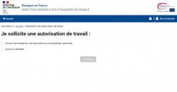 Demande d'autorisation de travail d'un étranger salarié en France : un nouveau site mis en ligne