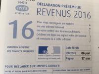 Le formulaire 2042 (papier) pour la déclaration d'impôt sur le revenu 2017