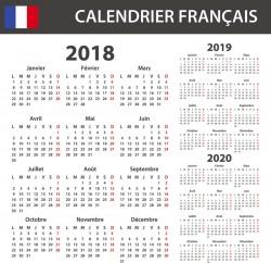 Jours fériés 2018 2019 : calendrier