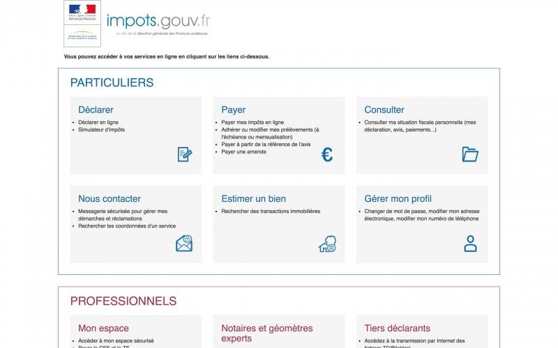 Problème de connexion sur impots.gouv.fr à cause d'un incident technique