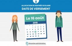 Prime de rentrée scolaire 2018 : date de versement de l'allocation le 16 août