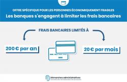 Offre spécifique : limiter les frais bancaires à 20 euros par mois et 200 euros par an