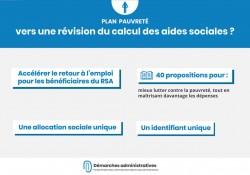Plan pauvreté : vers une réforme des aides sociales et notamment du RSA