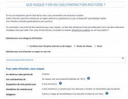 Simulateur de sanction aux infractions routières