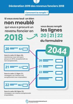 Déclaration 2019 des revenus fonciers 2018