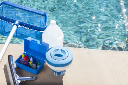 Utilisation des produits de nettoyage pour piscines et spas
