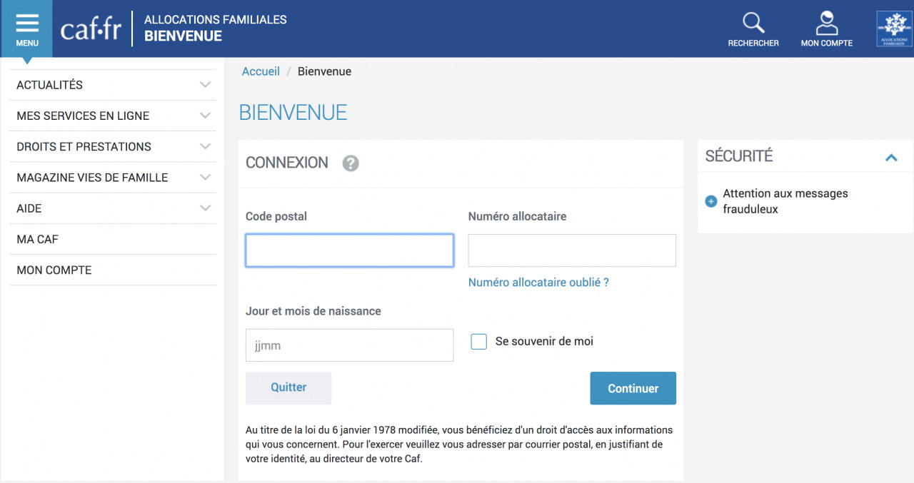 Pourquoi transmettre ses coordonnées sur Caf.fr ?