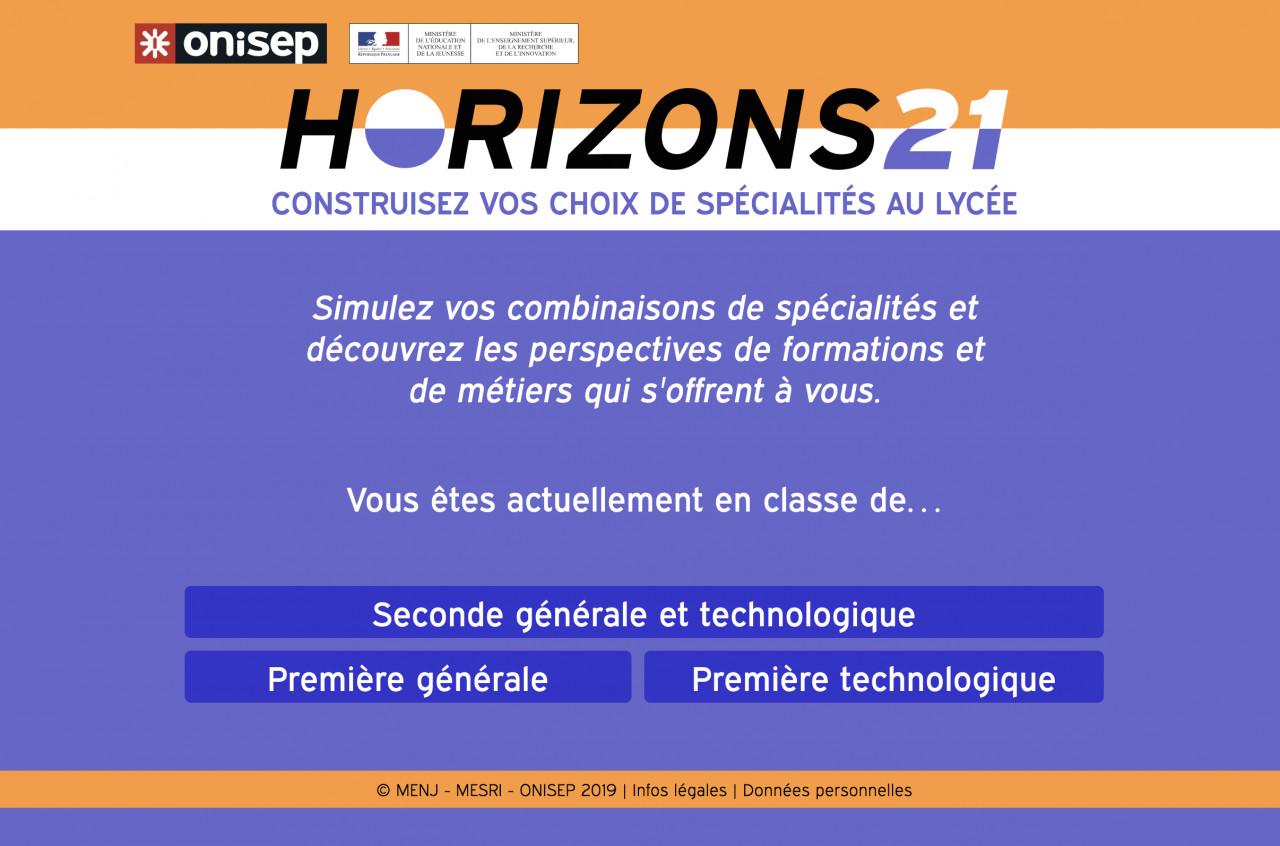 Horizons21: Une plateforme qui aide les lycéens à choisir leurs spécialités pour le baccalauréat