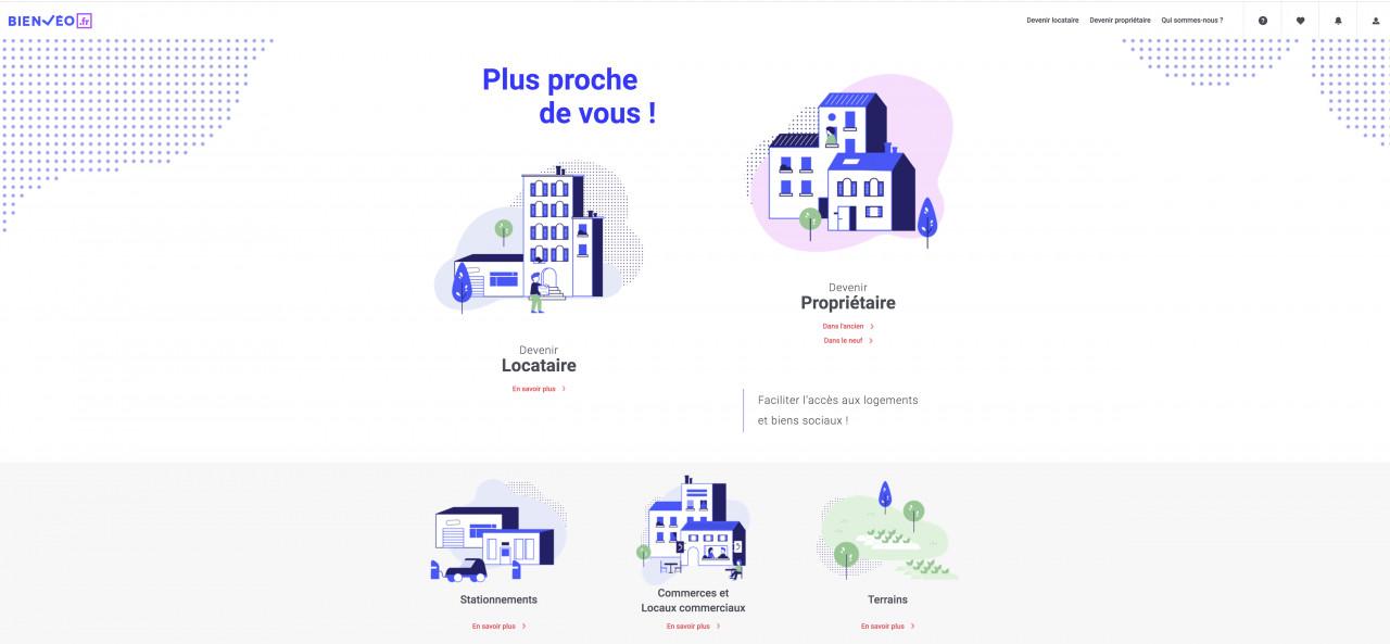 Trouver un logement social disponible à la vente ou à la location sur Bienveo.fr