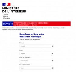 Couvre-feu : télécharger l'attestation de déplacement valable dès le 15 décembre