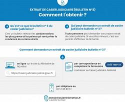 Demande d'extrait de casier judiciaire bulletin numéro 3 gratuitement