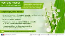 Vendre du muguet le 1er mai pour les particuliers
