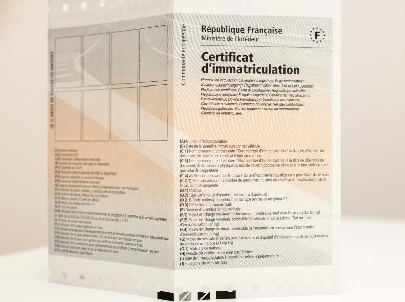 Changement immatriculation plaque française