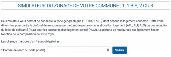 Zone géographique de son logement pour les allocations: simulateur de zonage en ligne