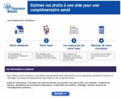 Estimer ses droits à une complémentaire santé sur le site de l'Assurance maladie