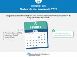 Pensions de retraite calendrier: dates de versement retraite de base, complémentaire, supplémentaire